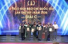 Danh sách các tác phẩm xuất sắc đoạt Giải Báo chí Quốc gia lần thứ XV