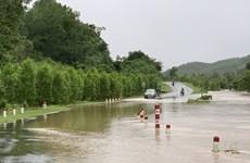 Phú Yên: Nước lũ dâng cao chia cắt cục bộ một số địa phương