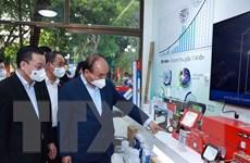 [Photo] Chủ tịch nước thăm DN tiêu biểu do doanh nhân cao tuổi quản lý