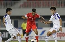 Chơi thiếu người, U23 Lào vẫn cầm hòa U23 Singapore
