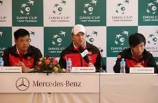 Tuyển Davis Cup Việt Nam tự tin trước trận gặp Pakistan