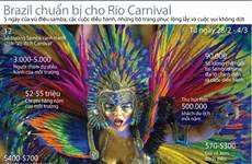 Brazil háo hức chuẩn bị cho lễ hội hóa trang Rio Carnival