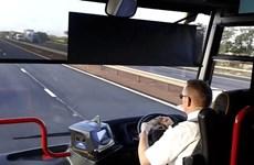 Kinh hãi khi tài xế vừa đếm tiền vừa lái xe