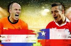 Hà Lan - Chile: Quyết chiến ngôi đầu để tránh chủ nhà Brazil