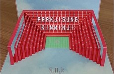 Park Ji-Sung mang cả sân Old Trafford vào thiệp cưới của minh