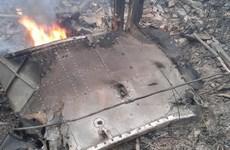[Photo] Hiện trường vụ rơi máy bay trực thăng ở Thạch Thất