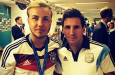 """Người hùng Mario Goetze gọi kẻ thất bại Messi là """"thiên tài"""""""