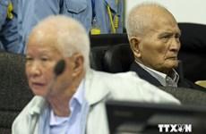 Campuchia hoan nghênh án phạt dành cho 2 cựu thủ lĩnh Khmer Đỏ