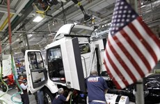 Mỹ: Thâm hụt buôn bán giảm xuống mức thấp nhất 6 tháng qua
