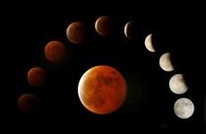 """[Photo] Hiện tượng thiên văn kỳ thú """"Mặt Trăng máu"""" ở Trung Quốc"""