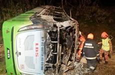 Tai nạn xe buýt thảm khốc ở Malaysia làm 30 người thương vong