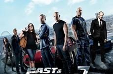 """""""Furious 7"""" thống trị bảng xếp hạng các phim hút khách nhất Bắc Mỹ"""