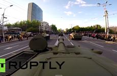 Xe tăng dự lễ duyệt binh ở Quảng trường Đỏ được gắn camera GoPro