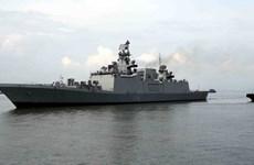 [Photo] Lễ đón tàu khu trục tàng hình của Ấn Độ ở cảng Tiên Sa