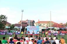 Sôi nổi Giải bóng đá thanh niên Việt Nam tại Lào lần thứ hai
