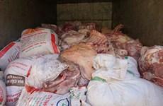 Kinh hãi với kho thịt xương biến màu tại điểm mổ lợn ở Hải Dương