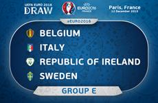 EURO 2016: Chờ đợi những cuộc chạm trán nảy lửa ở bảng E