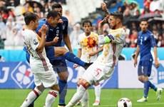 """Tuyển Tây Ban Nha bị loại khỏi EURO 2016 vì """"lời nguyền áo trắng""""?"""
