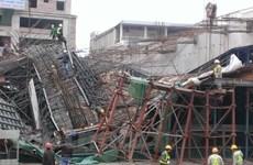 Bình Định: Sập giàn giáo làm 1 người tử vong, 7 người bị thương