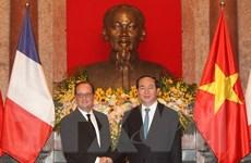 Quan hệ Việt Nam-Pháp đang phát triển tích cực trên nhiều lĩnh vực
