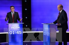 """Pháp: Hai ứng cử viên cánh hữu """"so tài"""" ở cuộc tranh luận cuối"""