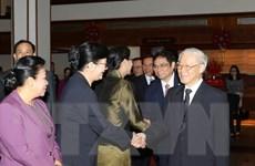 Tổng Bí thư Nguyễn Phú Trọng thăm tỉnh có vị trí chiến lược của Lào