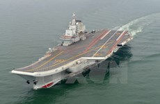 Hải quân Trung Quốc điều tàu sân bay tham gia diễn tập bắn đạn thật