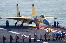 Trung Quốc: Đội hình tàu sân bay Liêu Ninh tiến hành huấn luyện
