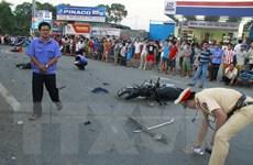 Tài xế gây tai nạn làm 2 trẻ tử vong tới cơ quan công an trình diện