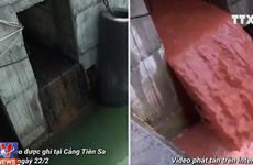 """Sự thật về """"cống xả nước màu đỏ ở Formosa"""" lan truyền trên mạng xã hội"""