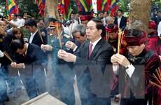 [Photo] Chủ tịch nước dâng hương tưởng niệm các Vua Hùng