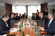 Chủ tịch Quốc hội Nguyễn Thị Kim Ngân hội kiến Thủ tướng CH Séc