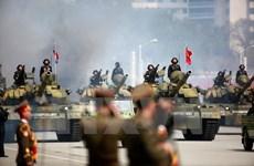 Xe tăng Triều Tiên rời vị trí trong cuộc diễu binh vì gặp sự cố?