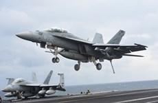 Các máy bay Mỹ thực hiện cuộc tập trận trên không với Nhật Bản