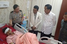 Tổng thống Indonesia thăm các nạn nhân bị thương trong vụ đánh bom