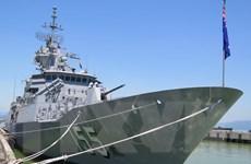 Tàu chiến Hải quân Australia HMAS Ballarat cập Cảng Tiên Sa