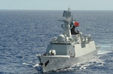 Hạm đội của Hải quân Trung Quốc tiến hành tập trận với Nga