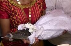 Thị trưởng kết hôn với cá sấu để cầu mong sự may mắn cho ngư dân
