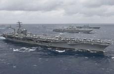 Nhóm tàu sân bay của Mỹ bắt đầu chiến dịch chống IS tại Syria, Iraq