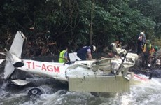 Rơi máy bay cỡ nhỏ tại Costa Rica, ít nhất 2 người thiệt mạng