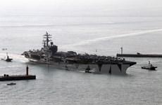 Tàu sân bay Mỹ chuẩn bị tham gia tập trận với Hải quân Hàn Quốc