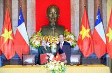 [Photo] Chủ tịch nước chủ trì Lễ đón và hội đàm với Tổng thống Chile