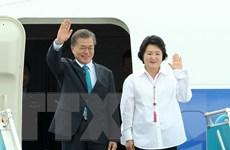 [Photo] Đoàn lãnh đạo Cấp cao Hàn Quốc, Campuchia tới Đà Nẵng dự APEC
