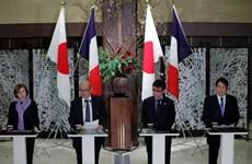 Nhật Bản-Pháp nhất trí tăng cường hợp tác trong lĩnh vực quốc phòng