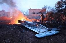 [Photo] Hiện trường tan hoang vụ máy bay Su-25 của Nga bị bắn rơi