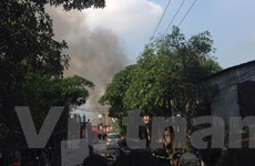 Hà Nội: Cháy lớn tại nhiều xưởng trong Công ty Lâm sản ở Đại Từ