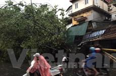 Mưa dông kèm gió giật cấp 6 đã xảy ra tại khu vực phía Tây Hà Nội