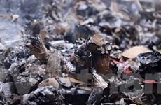 Hà Nội: Hỏa hoạn thiêu rụi kho hàng đồ gốm sứ, thủy tinh
