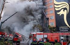Vụ cháy ở phố Trần Thái Tông: Có nạn nhân nghi bị mắc kẹt bên trong
