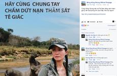 """Sao Việt gửi thông điệp nói """"không"""" với sừng tê giác Nam Phi"""